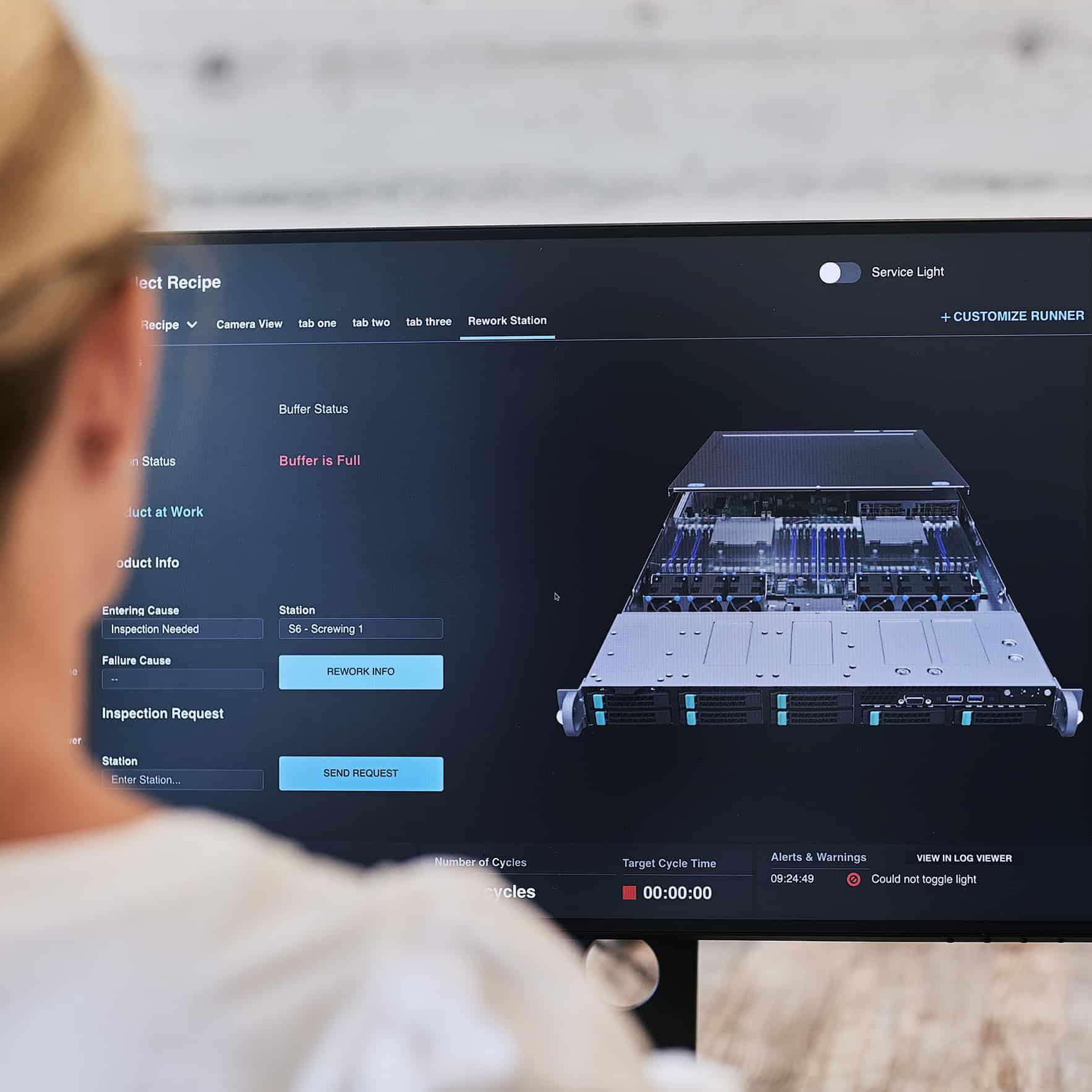 Brightware software screen